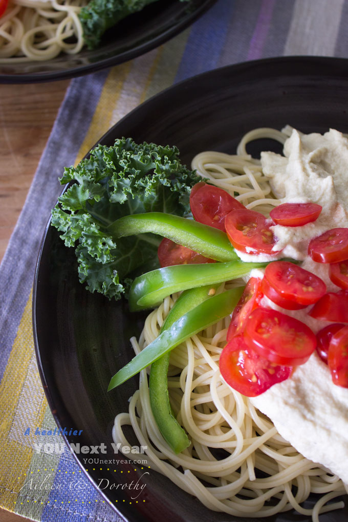 Creamy Pasta Alfredo that's dairy-free, vegan, and gluten-free!