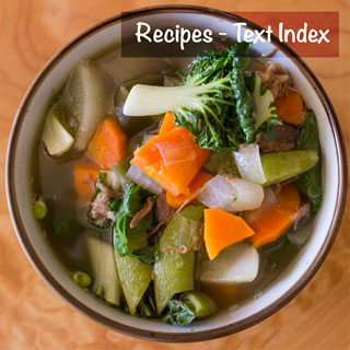 Recipes at You Next Year - Text Index - Rich steaming bowl of soup