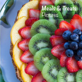 Aileen is an outstanding cook. She disappears into the kitchen and voila! She magically reappears with something you've always wanted to try but were never going to get around to making your (oops) my self. Fruit tart with fresh British Columbian peaches, strawberries, kiwi and blueberries. You Next Year
