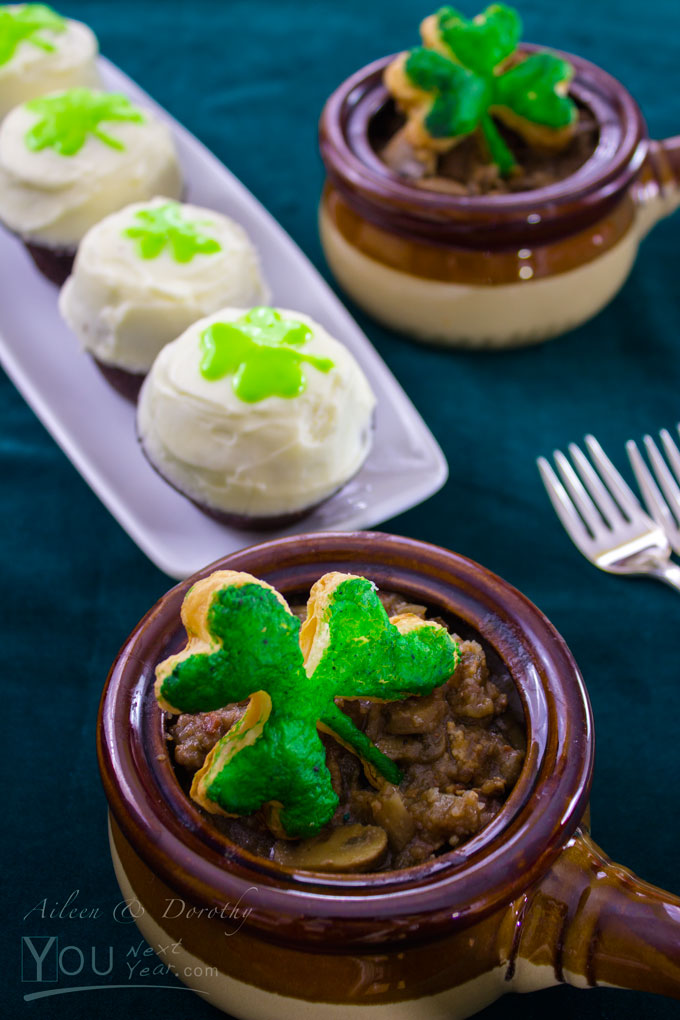 Guinness Stew & Guinness Cupcakes for St. Patrick's Day!