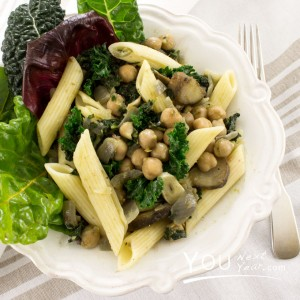 Rigatoni Sautéed with Chickpeas & Anchovy