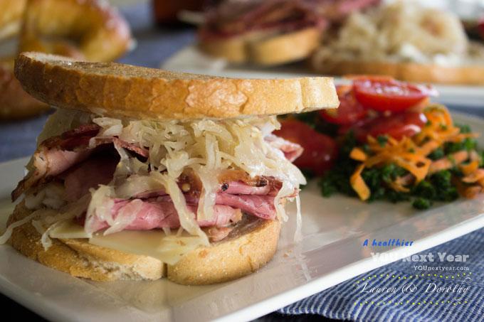 German shaved meat sandwich