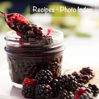 Recipes at You Next Year - Photo Index - Wild blackberries and jam